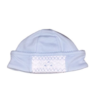 Magnolia Baby Mandy and Mason's Classic Smocked Hat - Lt Blue