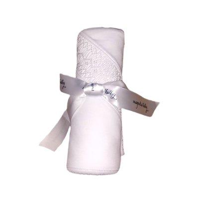 Magnolia Baby Mandy and Mason's Classic Smocked Blanket - White