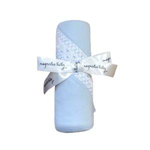Magnolia Baby Mandy and Mason's Classic Smocked Blanket - Lt Blue