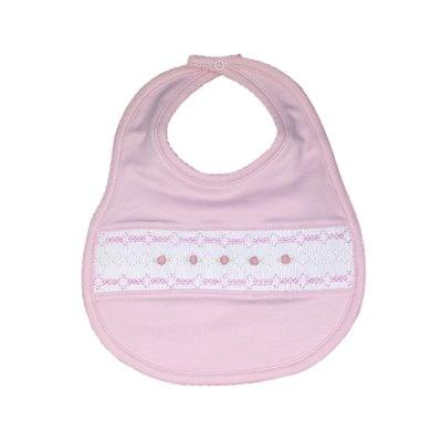 Magnolia Baby Mandy and Mason's Classic Smocked Bib - Pink