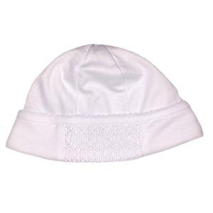 Magnolia Baby Mandy and Mason's Classic Smocked Hat - White