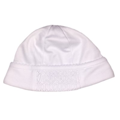 Magnolia Baby Mandy and Mason's Classic Smocked Hat - White
