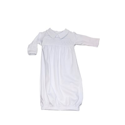 Magnolia Baby Mandy and Mason's Classics Smocked Gown - White