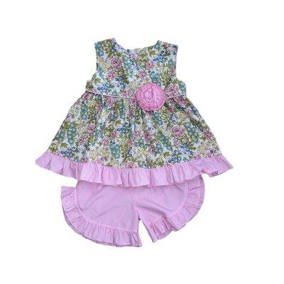 Native Pink Floral Short Set