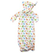 Honesty Clothing Company Unisex Bunnies Knot Gown w/Hat