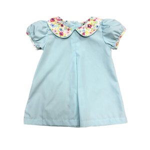 Honesty Clothing Company Aqua Floral Collar Dress