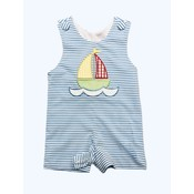 Honesty Clothing Company Sailboat Applique Shortall