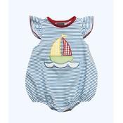 Honesty Clothing Company Sailboat Applique Girl's Bubble