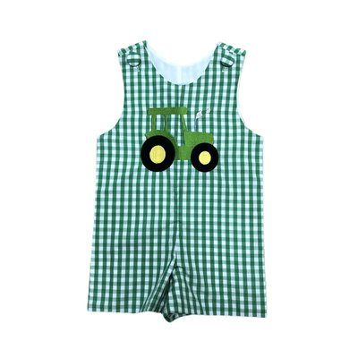 Honesty Clothing Company Green Gingham Tractor Shortall