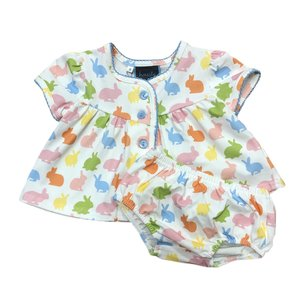Honesty Clothing Company Bunnies Baby Bloomer Set