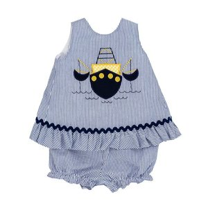 Bailey Boys Shrimp Boat Angel Dress w/Bloomer