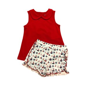 Honesty Clothing Company Sailboats Swing Top/Shorts Set