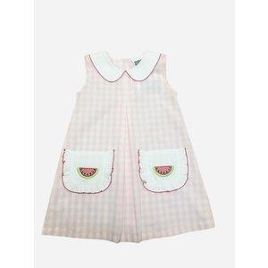 True Watermelon Applique Dress