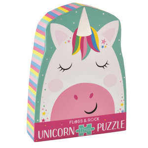 Floss and Rock Rainbow Unicorn 12PC Jigsaw Puzzle