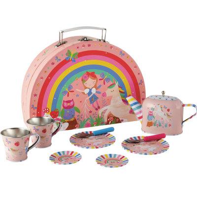 Floss and Rock Rainbow Fairy Tin Tea Set in Case