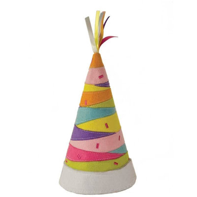 Groovy Holidays Striped Party Hat