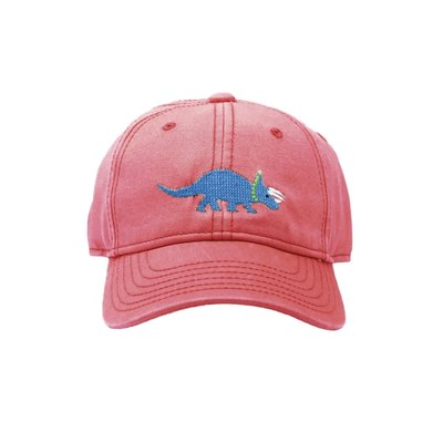 Harding Lane Triceratops on Weathered Red Baseball Hat