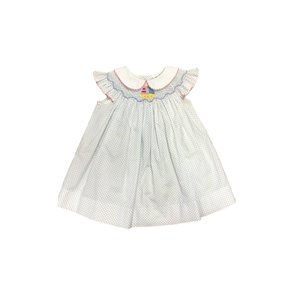 True Smocked Sailboat Dress