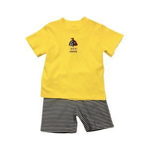Squiggles Boy Crochet Sailboat Yellow Shirt & Shorts Set