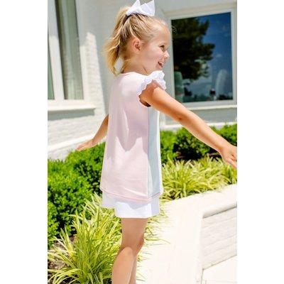 Beaufort Bonnet Company Sleeveless Polly Play Shirt - Buckhead Blue/Palm Beach Pink