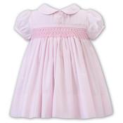 Sarah Louise Pink Smocked Dress