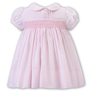 Sarah Louise Pink Smocked Dress