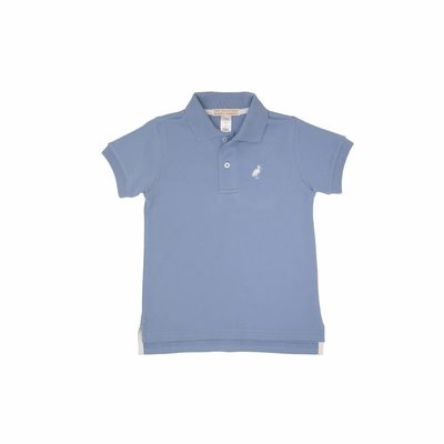 Beaufort Bonnet Company Prim and Proper Polo SS - Pima Park City Periwinkle