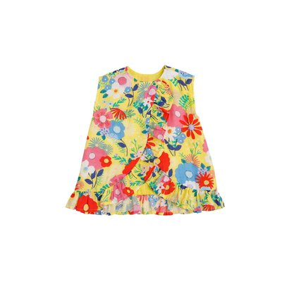 Angel Dear Superior Blend Floral Ruffle Top & Bloomer Set
