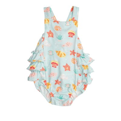 Angel Dear Happy Shells Ruffle Sunsuit