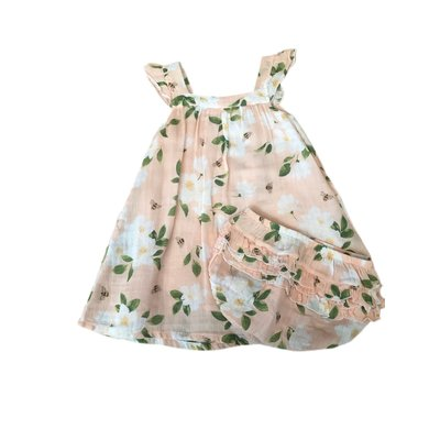 Angel Dear Magnolia Muslin Sundress/Diaper Cover