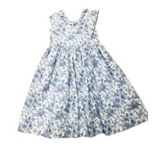 Lulu Bebe LLC Blue & White Sleeveless Dress