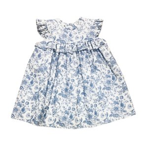 Lulu Bebe LLC Blue & White Angel Wing Dress