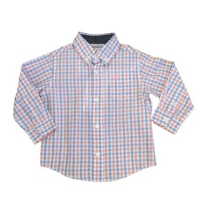 SouthBound Pink/Blue Check Button Down Dress Shirt