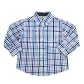SouthBound Blue/Blue Multi Button Down Dress Shirt