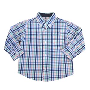 SouthBound Blue/Blue Multi Button Down Dress Shirt