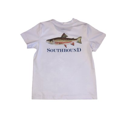 SouthBound Performance Tee - Brown Fish