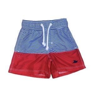 SouthBound Swim Trunk - Royal Stripe/Red