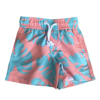 SouthBound Swim Trunk - Tropical Leaf