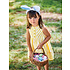 JoJo Maman Bebe Lemon Stripe Sleeveless Shirt Dress