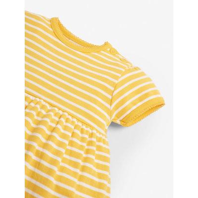 JoJo Maman Bebe Duck Applique Short Sleeve Lemon Dress