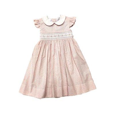 Lulu Bebe LLC Smocked Waist White Color Angel Wing Dress