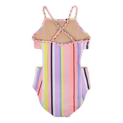 Shade Critters Coral Stripe Cutout Monokini Swimsuit