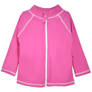 Flap Happy Azalea Pink UPF 50 Zip Front Swim Jacket