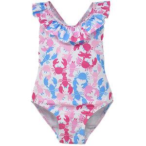 Flap Happy Pink LobstersUPF 50 Crossback Swimsuit