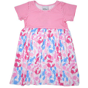 Flap Happy Pink Lobsters UPF 50 S/S Tee Dress