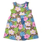Flap Happy Cheetah Blooms UPF 50 Sleeveless Tee Dress w/Pockets
