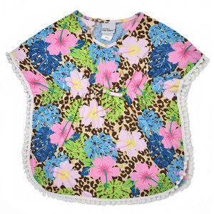 Flap Happy Cheetah Blooms UPF 50 Swim Cover-Up
