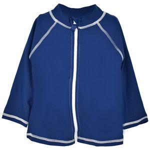 Flap Happy Navy UPF 50 Zip Front Swim Jacket