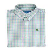 J Bailey Button Down Shirt- Palmetto Plaid