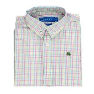 J Bailey Button Down Shirt - Rasperry Plaid